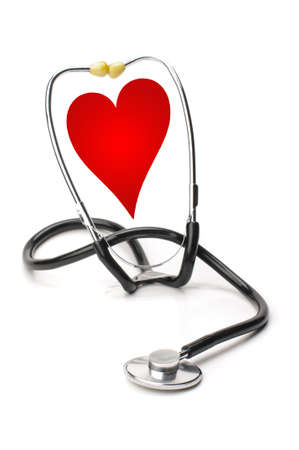 Love concept with stethoscope Stock Photo