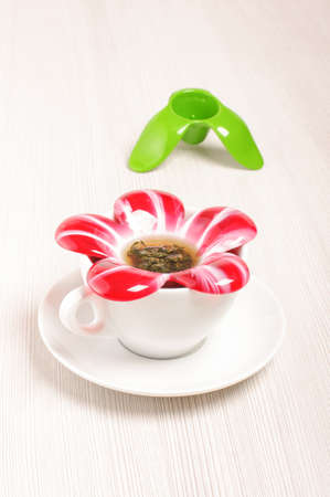 loose leaf: Modern flower blossom shape tea infuser