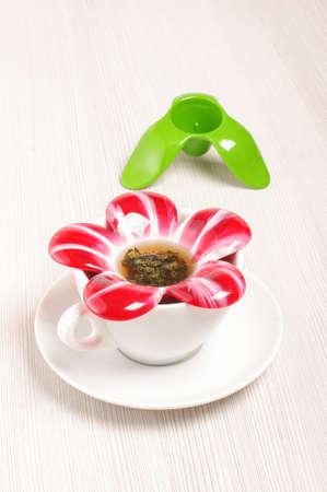 infuser: Modern flower blossom shape tea infuser