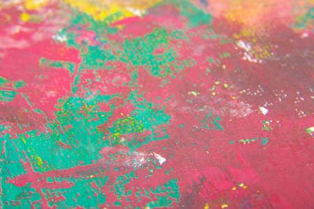 Macro close up of paint brush strokes Stock Photo
