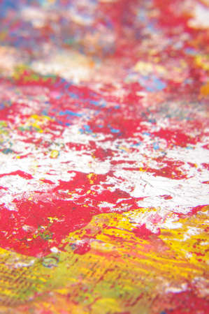 Macro close up of paint brush strokes Stock Photo