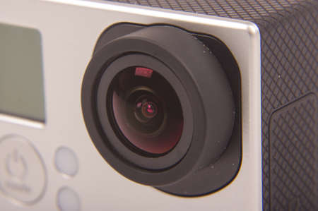 tiny lenses: Close up of integrated lens in modern camera