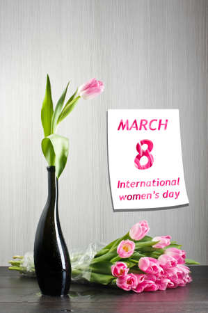 Womens day greeting card Stock Photo