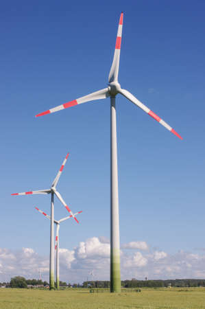 energetics: Wind turbine surrounded by nature Stock Photo