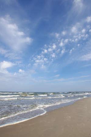 リトアニア、リトアニアの空の砂浜