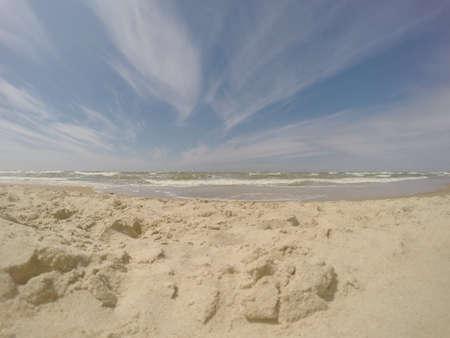 bathe: Sandy beach in Palanga, Lithuania Stock Photo