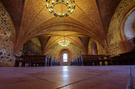 duke: Interior of main hall of Trakai castle in Trakai town, Lithuania
