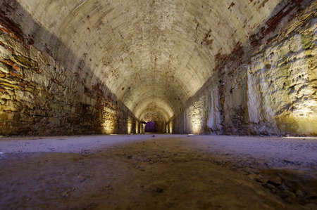 Medieval underground tunnel in Lucca, Italy