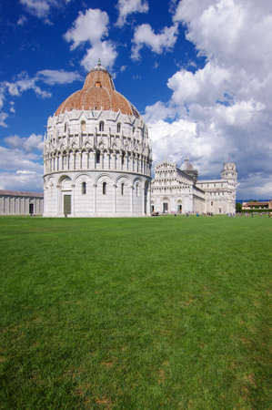Pisa Baptistery in Square of Miracles in Pisa, Italy