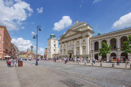 WARSAW, POLAND - JULY 15, 2017: Old Town of Warsaw, Poland on July 15, 2017