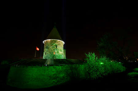 Kaunas Castle during light festival