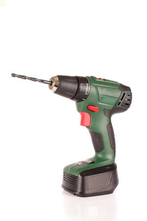 Cordless drill driver isolated on the white background