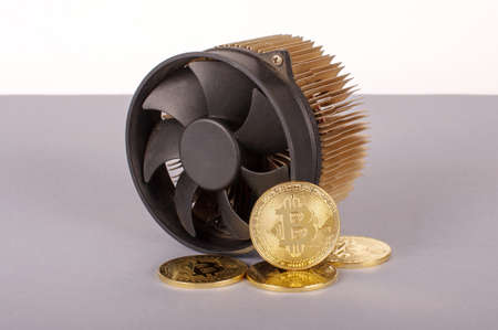 Bitcoin mining device and symbolic coins as a profit concept