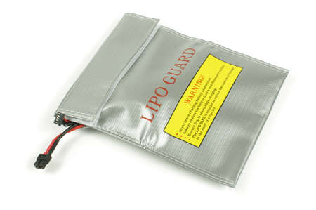 LiPo Lithium polymer batteries can be dangerous during charging and overcharging. This bag offers safety and protection from explotion and fire