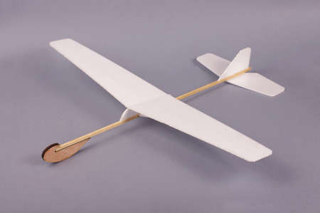 Simple do it yourself hobby airplane from foam and wood. Creativity and freedom concept