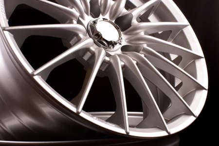 Brand new vehicle rims made from aluminum alloy 스톡 콘텐츠