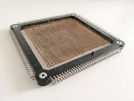 Many ferrites assembled in matrix configuration in magnetic core memory Reklamní fotografie