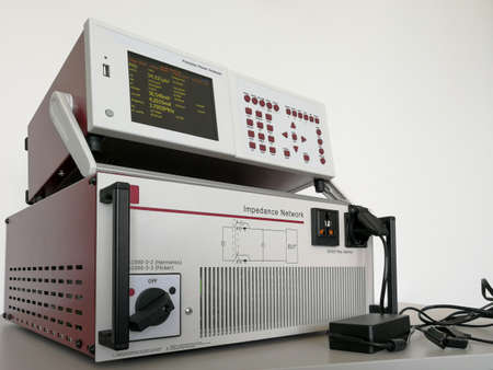 EMC test equipment for measuring power harmonics and flicker of devices supplied from power line