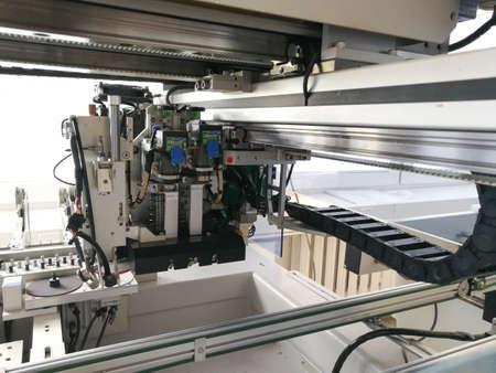 Internal CNC mechanism inside Pick and Place machine