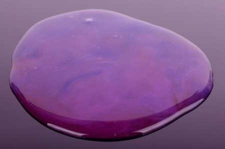 Modern fluffy sticky  material called slime