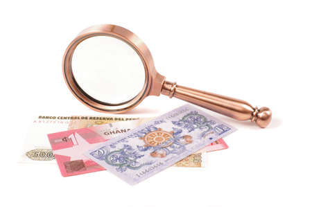 Professional old style magnifying glass loupe lens for inspection