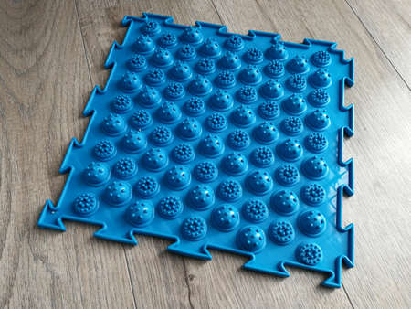 Orthopedic medical massage carpet for feet therapy Banque d'images
