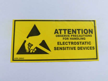 Electrostatic sensitive devices  marking label for ESD sensitive electronic components
