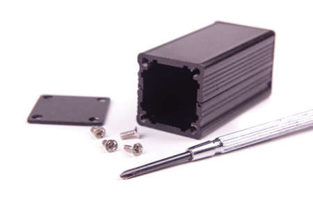 Black aluminium enclosure for electronics projects and PCB shielding
