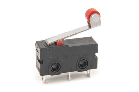 Tiny limit switch for mechanical movement and actuators limits Stock Photo