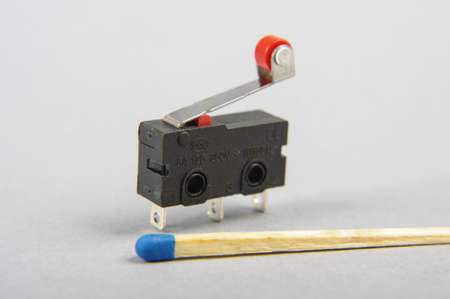 Tiny limit switch for mechanical movement and actuators limits