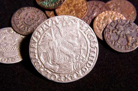 Starożytne Wielkie Księstwo Litewskie LDK (MDL) monety ort, grosze, ciała stałe znalezione jako skarb