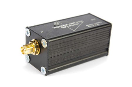 RF and microwave wideband signal amplifier isolated on the white background