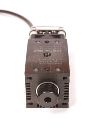 High power ultraviolet laser with heatsink isolated on the white background