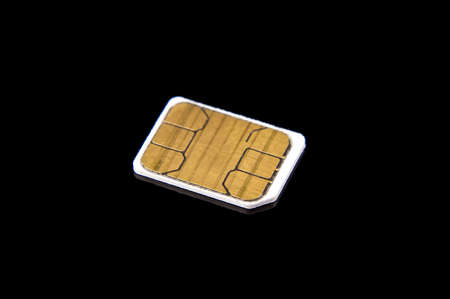 Micro GSM telecommunications identity SIM card for cell phones