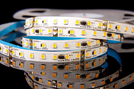 Light emitting diode flexible printed circuit board strip for various lighting applications close up
