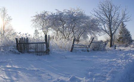 winter photos: Winter photos (former estate) Stock Photo