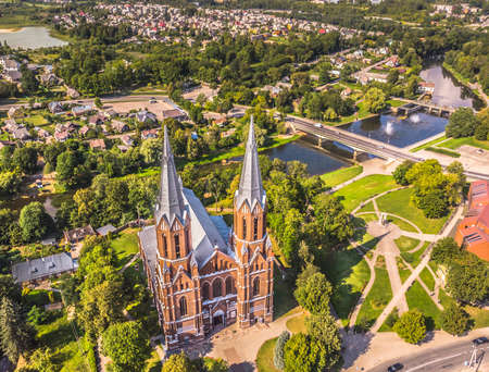 Church of Anyksciai city. Lithuania