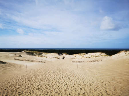 Curonian spit dead dunes - natural desert separating Baltic sea and lagoon