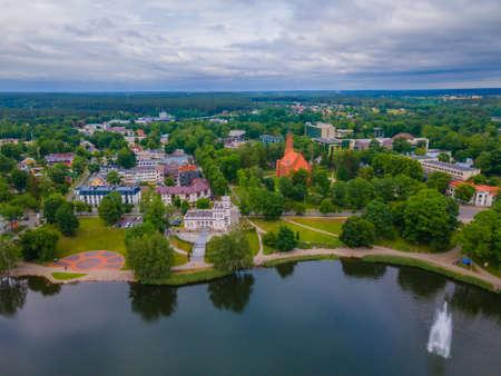 Aerial view of Lithuanian resort Druskininkai