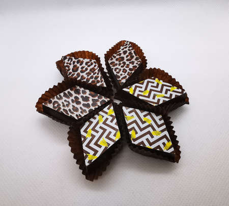 Selection of delicious hand made luxury chocolate candies