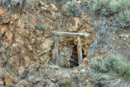 Old gold mine shaft at Chemung ghost town