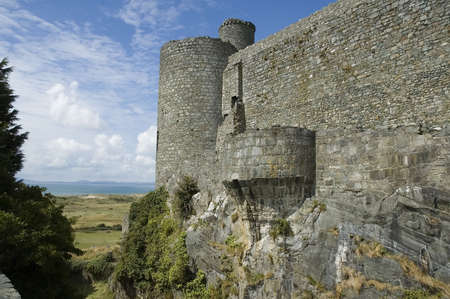 tudor: Harlech castle, seaside Welsh castle