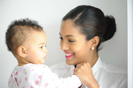 daugther: young woman and her daugther Stock Photo