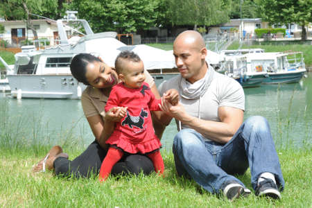 metis: young family Stock Photo