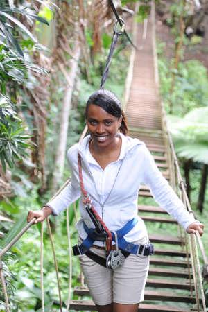 metis: mauritian young woman