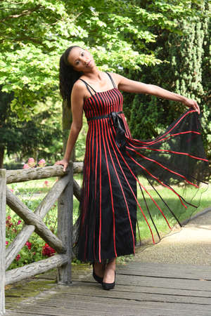 young metis woman in love in paris photo