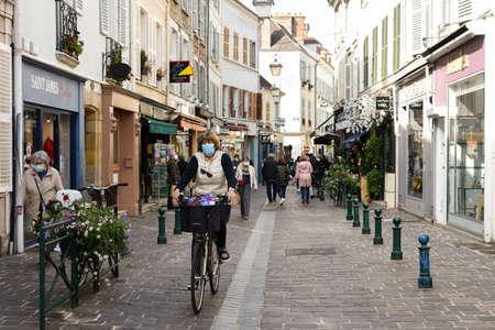 fontainebleau street after deconfinement