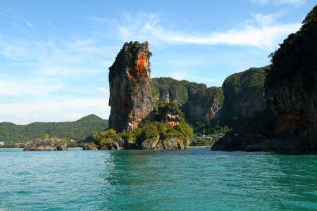 bueatiful island in krabi of thailand Stock Photo