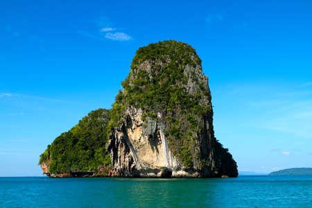 bueatiful island and blue sky in krabi of thailand