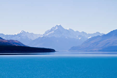 new zealand landscape: the mount cook in newzealand Stock Photo
